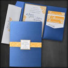 craetive design studio wedding invitations Wedding Invitations Navy And Yellow yellow and navy floral pocket fold wedding invitation navy blue and yellow wedding invitations