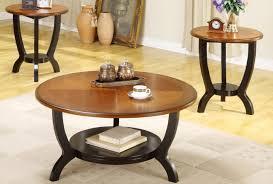 Nice Small Round Wood Coffee Table Photo