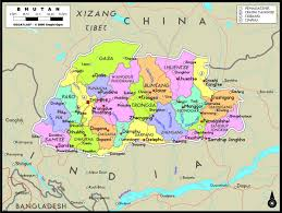 bhutan political wall map  mapscom