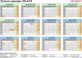 School Calendar Template 2015 2020 Printable School Calendar To Download Or Print