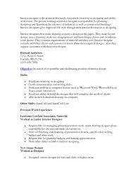 Interior Designer Resume Objective Examples Psoriasisguru Com