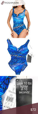 Miraclesuit Animal Print Escape Nwt Swimsuit 14 New With