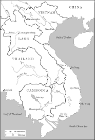 Map For Vietnam Colouring Pages