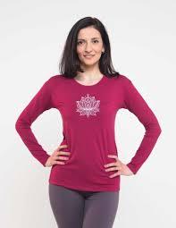 Купить <b>футболка женская лотос</b> с длинным рукавом yogadress в ...