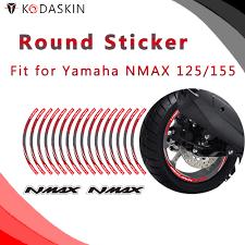 <b>KODASKIN</b> Motorcycle NMax 2D Emblem Round <b>Sticker Decal Big</b> ...