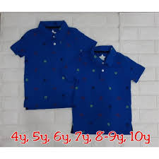 Collared Boy Blue Robot Shirt By Garanimals