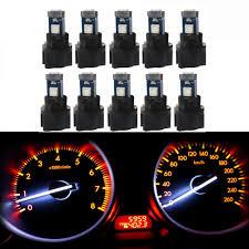 Us 10 3 35 Off Wljh 10x T5 Wedge Bulbs 37 73 Led Lamp Pc74 Twist Socket Gauge Instrument Panel Dash Light Indicator Bulb For Chevrolet In Signal