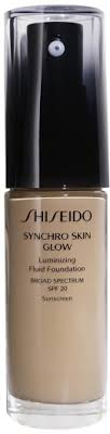 <b>Shiseido</b> Synchro Skin Glow Luminizing Foundation <b>Neutral 4</b> 30ml ...