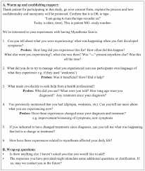 Interview Guide This Is The Interview Guide Used For The