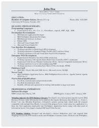 Salesforce Experienced Resumes Sample Resume For Software Engineer Experienced Terrific 25 Unique