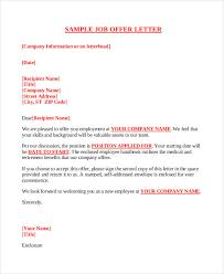 Business Letter Template Docx Company Offer Letter Template 10 Free