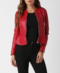 images gallery red faux leather peplum jacket