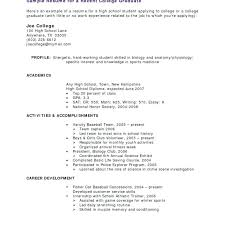 Resume For No Work Experience Sample College Student Resume No Work