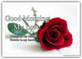 good morning my love sweetheart with