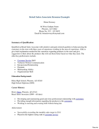 Resume For Sales Associate Retail Sales Associate Resume Sample With Operate Cash Register To 10
