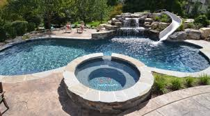 backyard salt water pool. Contemporary Water Salt Water Pool Deck On Backyard Water Pool