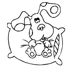 Small Picture Blues clues coloring pages sitting on pillow ColoringStar