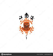Lizard Logo Design Lizard Logo Design With Aboriginal Style Stock Vector