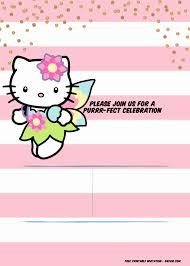 Happy Birthday Card Printable Template Printable Hello Kitty Invitations Unique A Super Sweet Free