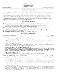 grant anderson landscape architect resume objective summary - example of  summary in resume