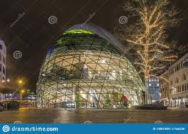 City Lights Clothing Store Dome Shaped Clothing Store At Night Editorial Photo Image