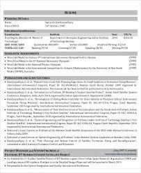 Aerospace Engineer Sample Resume Simple 44 Engineering Resume Templates Free Premium Templates
