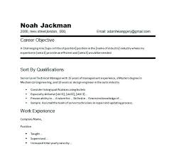 Samples Of Objective For Resume Resume Directory