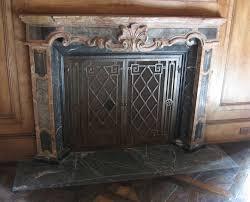 diamond pattern fireplace screen
