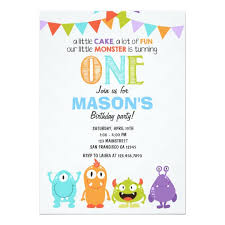 Lil Monster Birthday Invitations Little Monster Birthday Party Invitation Zazzle Com