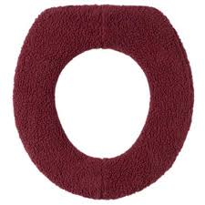 cushioned toilet seat covers. get quotations walterdrake burgundy sherpa toilet seat cover by oakridge comforts cushioned covers