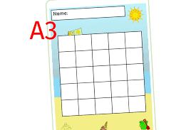 Free Summer Reward Chart A3 Early Years Eyfs Printable