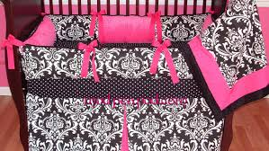 full size of bed pink and black crib bedding baby bedding damask black alexandra pink