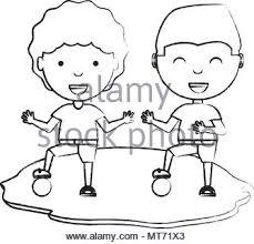 Una Illustrazione Vettoriale Di Bambini Che Giocano Nel Parco Giochi