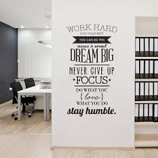 office wall decorations.  Office Wall Art Sticker Quotes Work Hard Vinyl Creative Mural Office Home Decor  Decal With Decorations