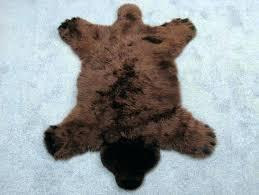 bear rug faux brown bear rug brown bear faux fur rug faux bear skin rug white