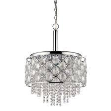 acclaim lighting isabella indoor 6 light polished nickel chandelier with crystal strands