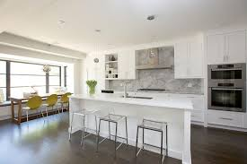 kitchen island with clear stools