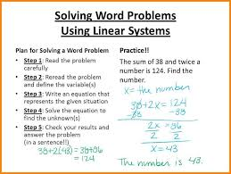 system of equation word problems solving word problems using linear systems jpg