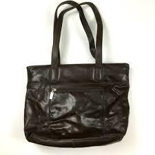 details about wilsons leather pelle studio brown tote shoulder bag handbag purse carryall