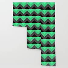 mint green gray chevron stripes wallpaper