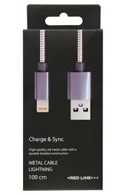 Дата-<b>кабель Red Line S7</b> USB - 8 - pin для Apple