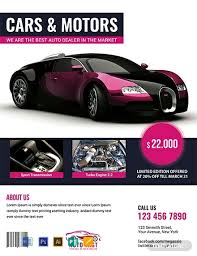 Car Dealership Flyer Templates Free Auto Sales Flyer Template Word Psd Apple Pages
