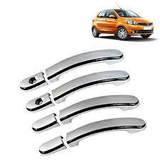 carhatke chrome plated door handle latch cover for tata tiago set of 4