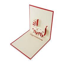 Newborn Congratulation Card Yokarta 3d Pop Up Cards New Born Baby Congratulation Message Card