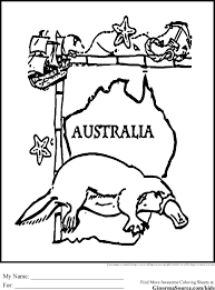 Australian Animal Coloring Pages Free Bltidm