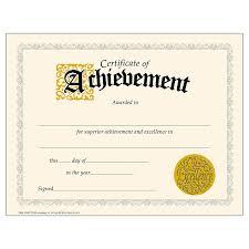 Achievement Certificates Templates Free Major Magdalene