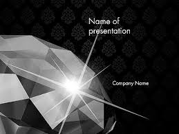 Diamond Facets Powerpoint Template Backgrounds 12643