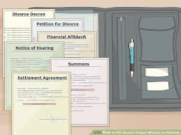 image titled file divorce papers without an attorney step 6