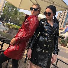 2019 eifurkop real fashion patent leather coat genuine sheepskin leather jacket for women lady long coats with belt from fried 389 61 dhgate com