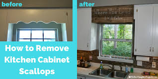 cover scalloped wood valance over kitchen sink mother daughter projects